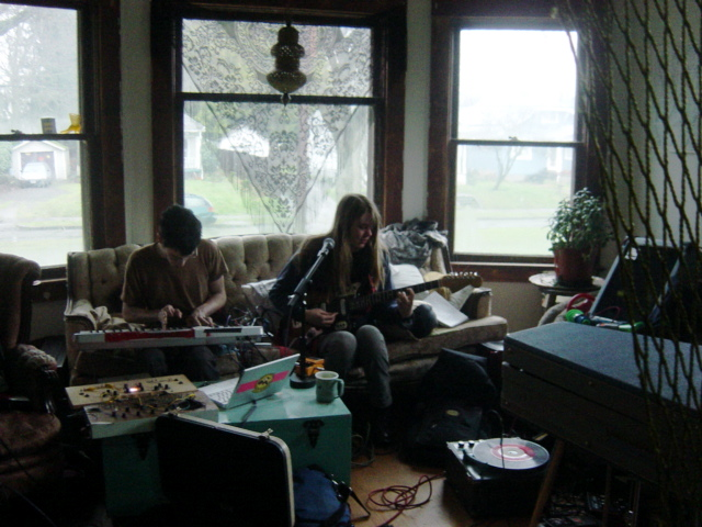 playing in a PDX living room w. sejayno and smegma one million years ago